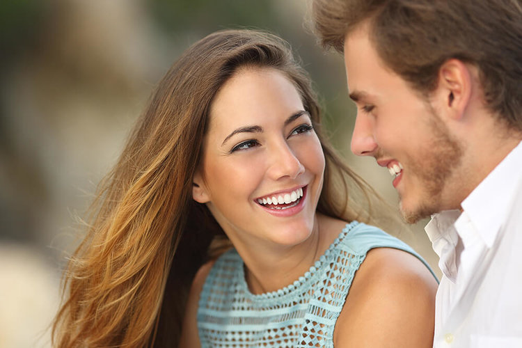 attractive couple smiling whiter teeth for life